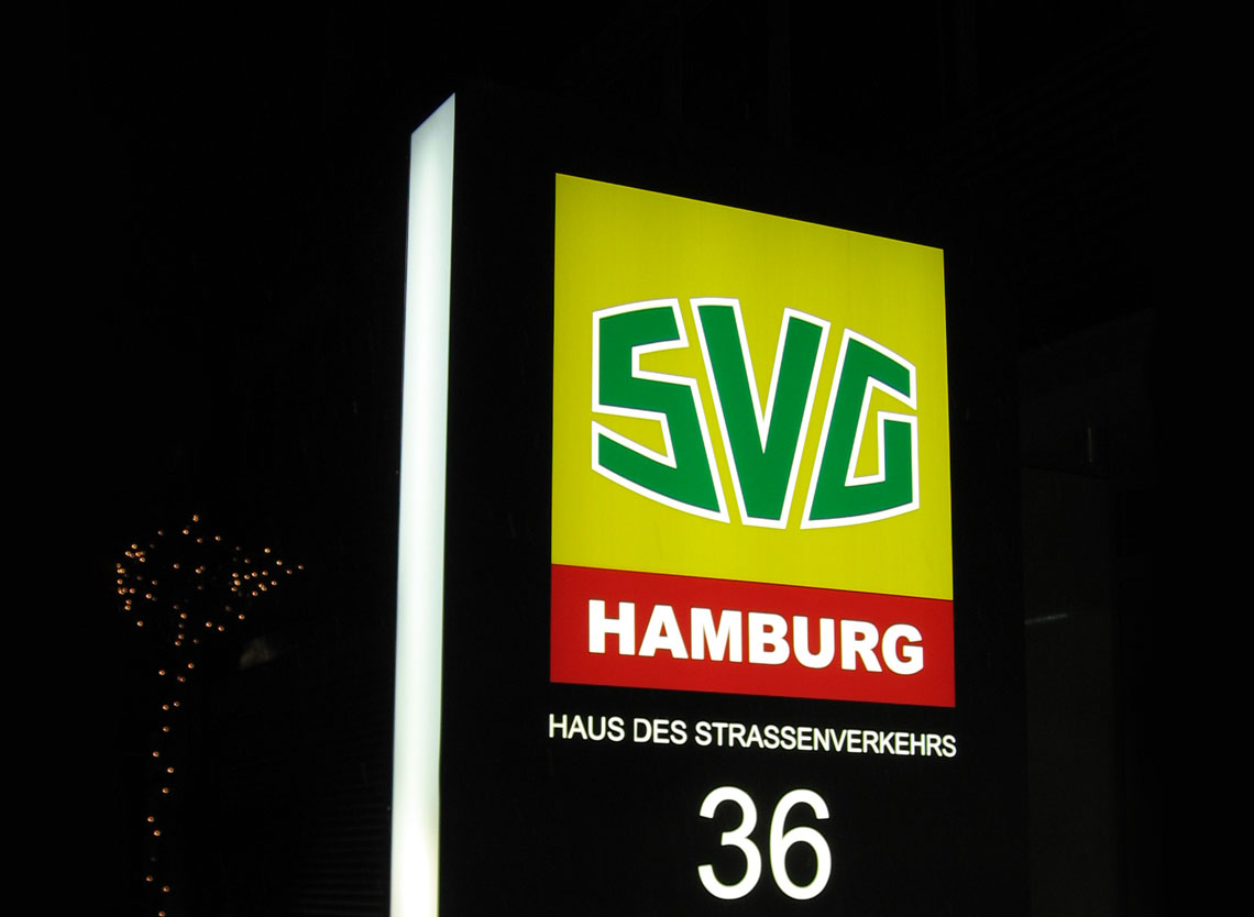 Pylon Stele 2D-Text SVG Hamburg